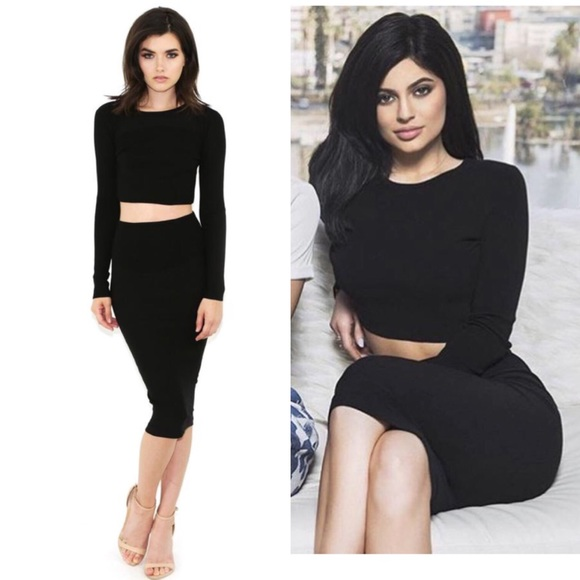 827a002a6d NWT Kendall + Kylie Knit Crop Top Long Sleeve
